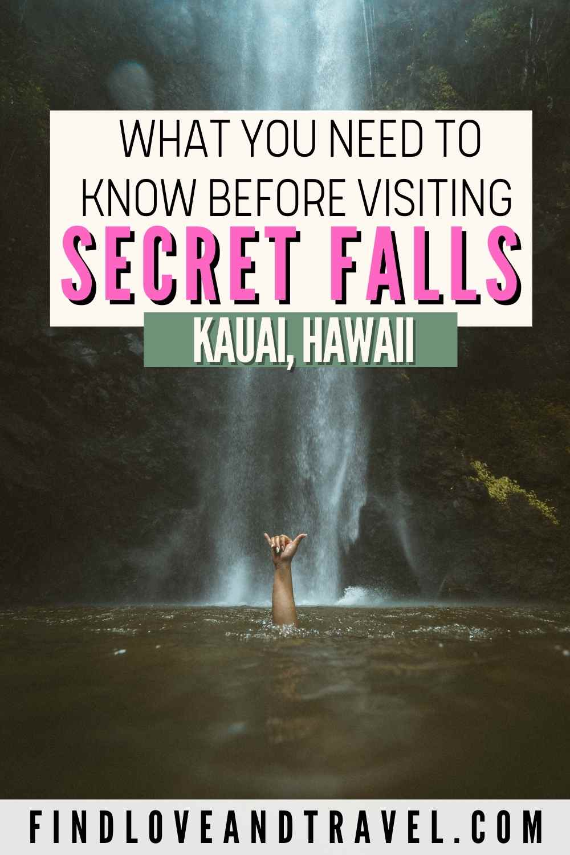 Secret falls travel tips Kauai, Hawaii