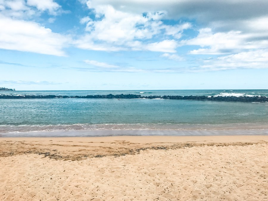 Lydgate Beach in Kauai's east coast