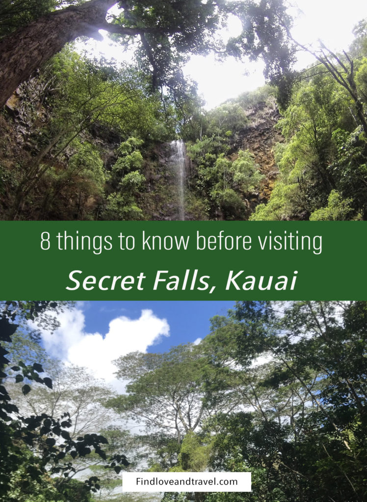 Dreaming of visiting a waterfall during your trip to Kauai? Secret falls is one of the only waterfalls you can swim in and is pretty easy to get to! Here's 8 tips to know before you go!