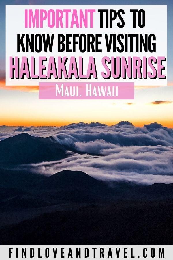 Important Mt. Haleakala Sunrise tips you should know when visiting Maui, Hawaii!