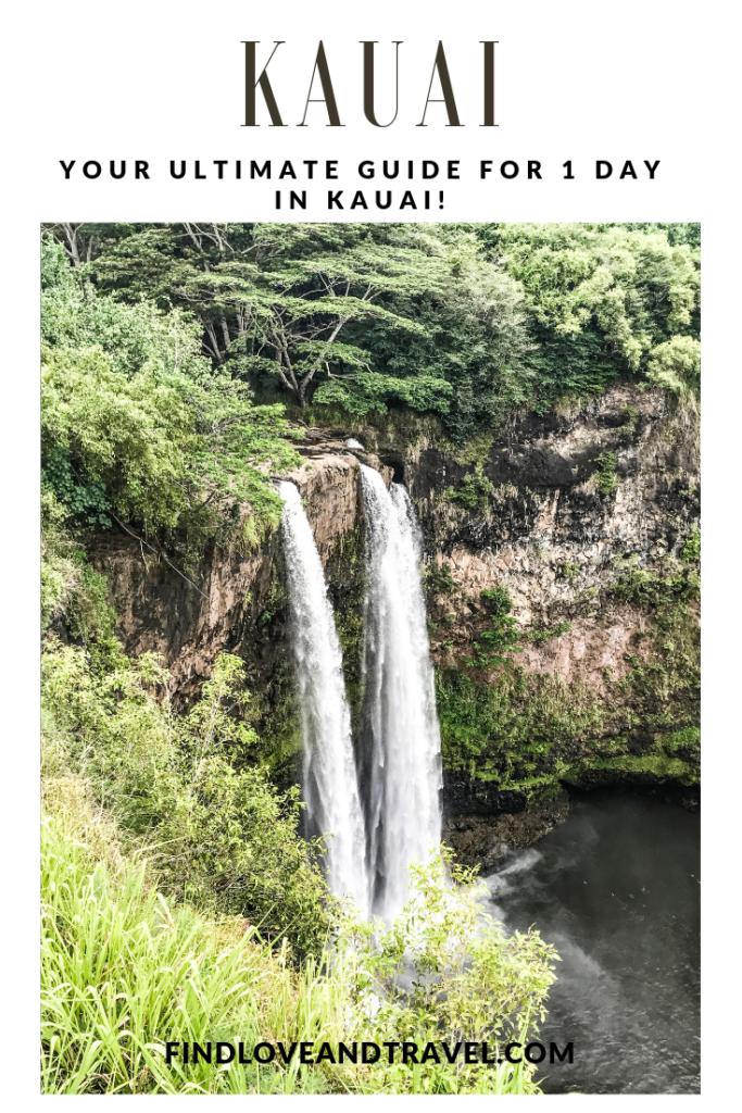 2 waterfalls flowing in kauai hawaii