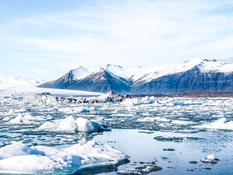 View of Jökulsárlón Glacier Lagoon