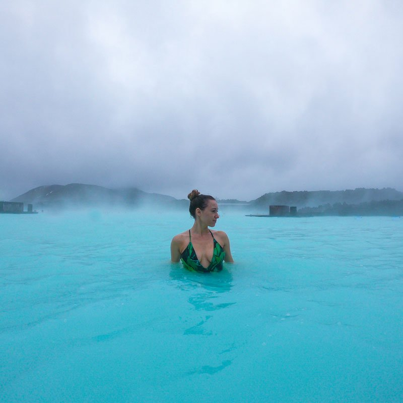 Inside Blue Lagoon Water Iceland