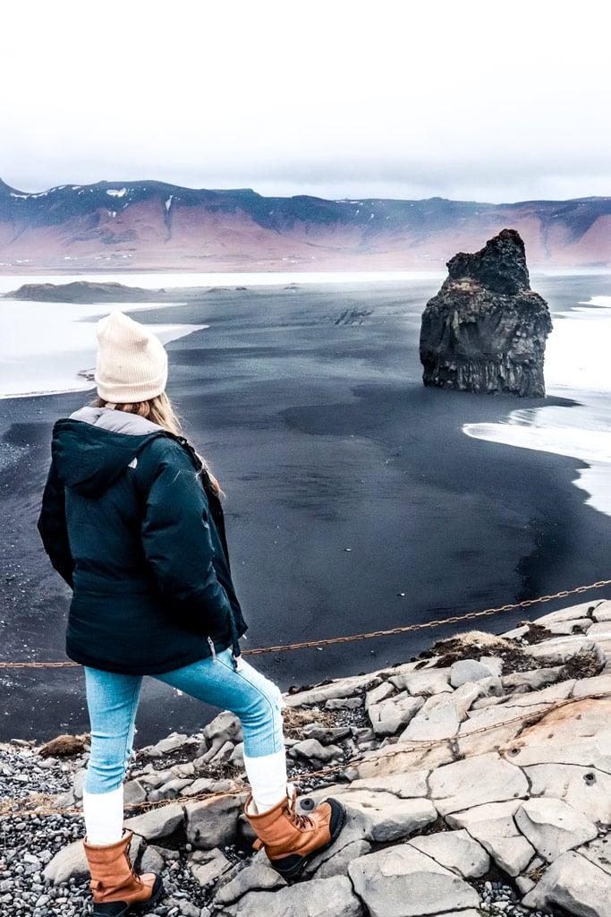 Dyrhólaey beach in Iceland