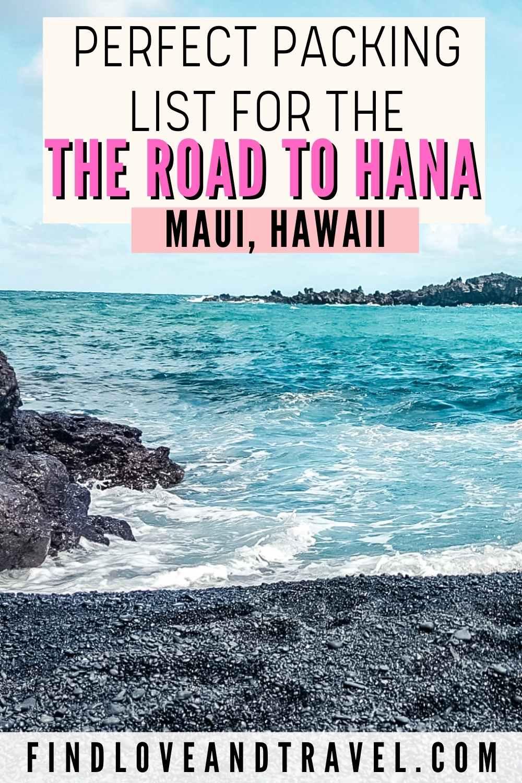 Road to Hana Packing List Maui Hawaii