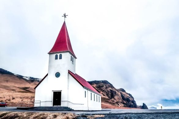 The Vik Church on top of the hill in Iceland