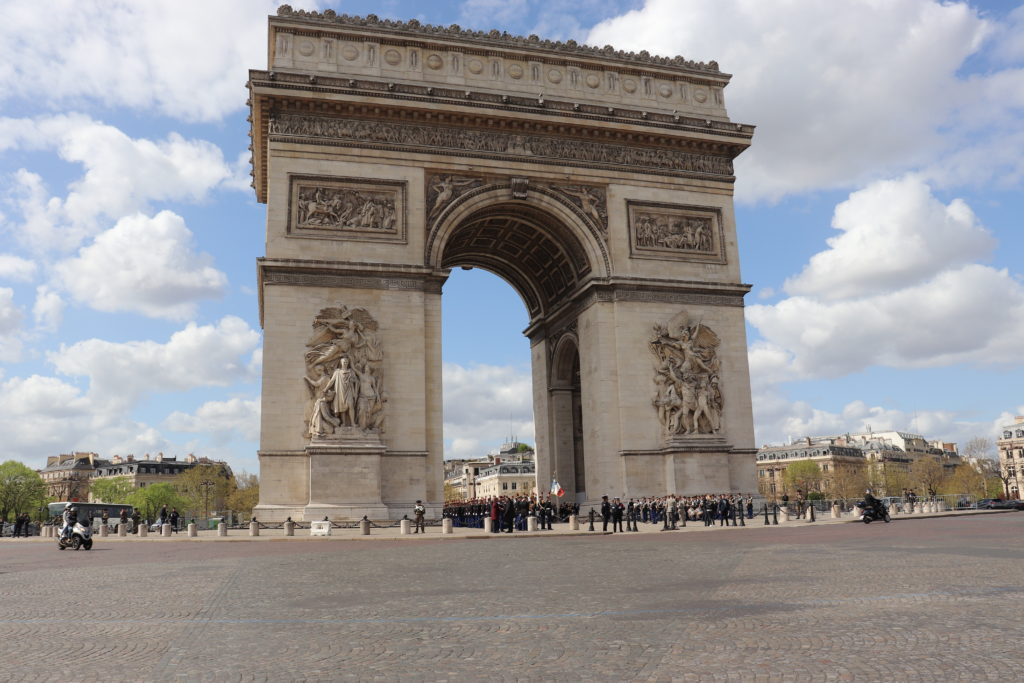 The famous Arc de Triomphe located in Paris! Make sure not to miss this Paris attraction!