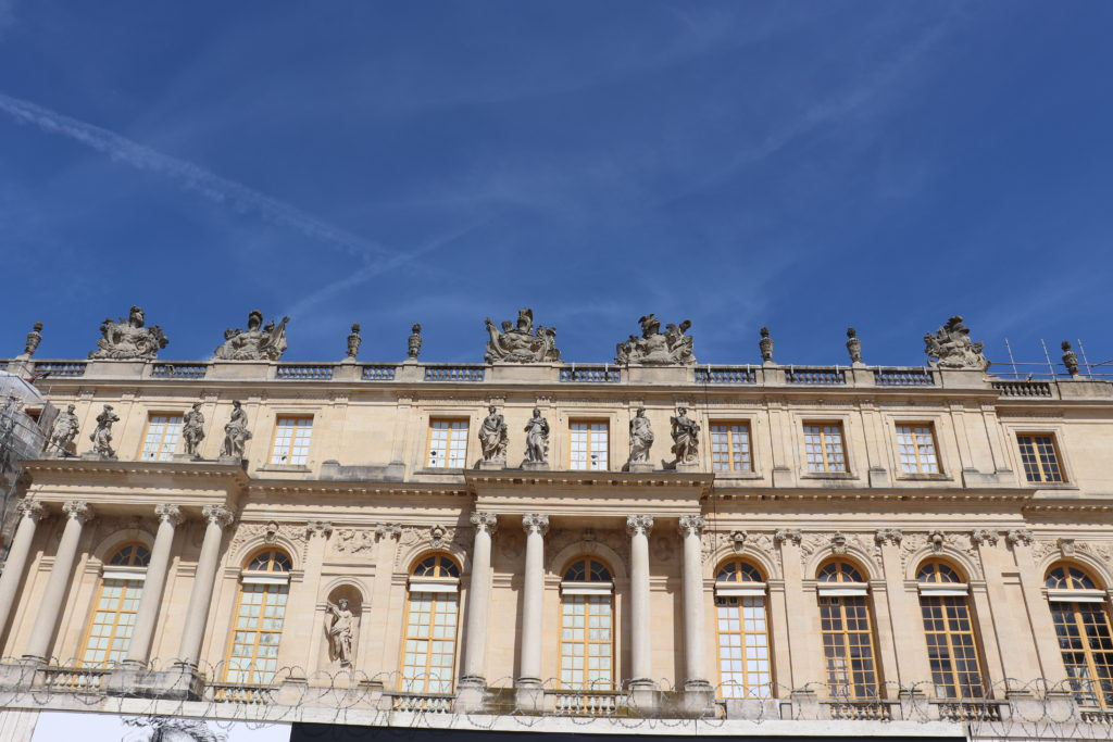 A view Versailles in Paris. This stunning Palace is a gem of France and worth a visit to their lush gardens and history!