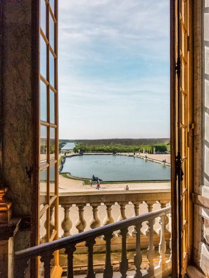 outside the window of Versailles