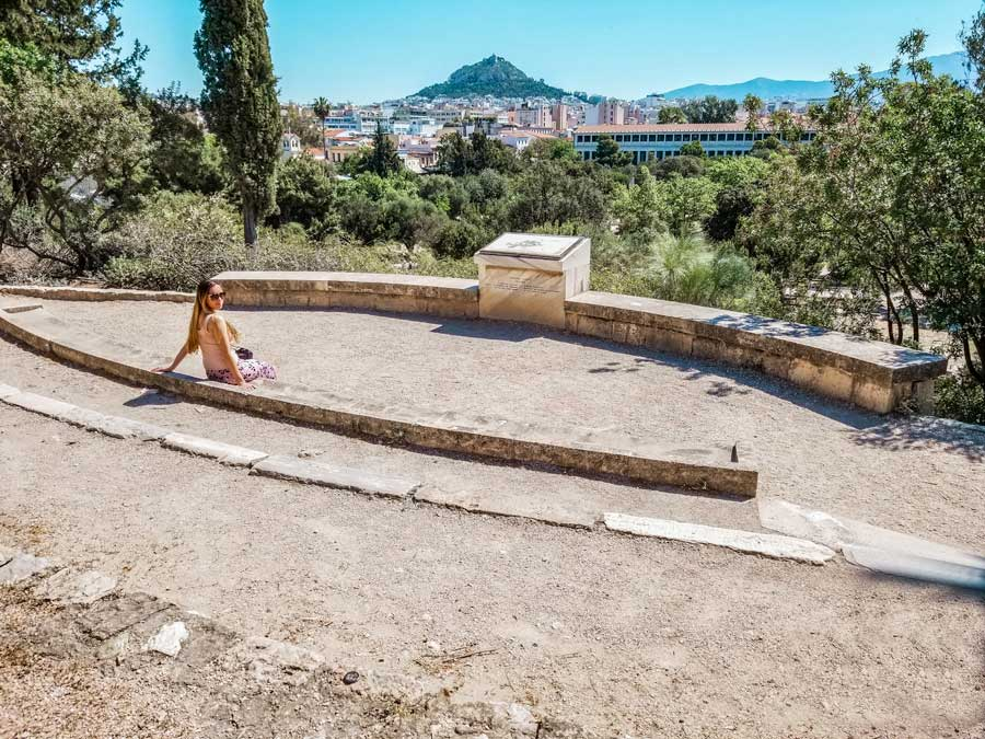 Views from the Athenian Agora in Ancient Greece with a view of the city.
