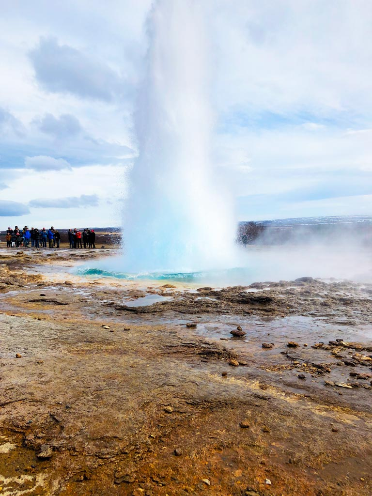 Geysir in Iceland on the Golden Circle route