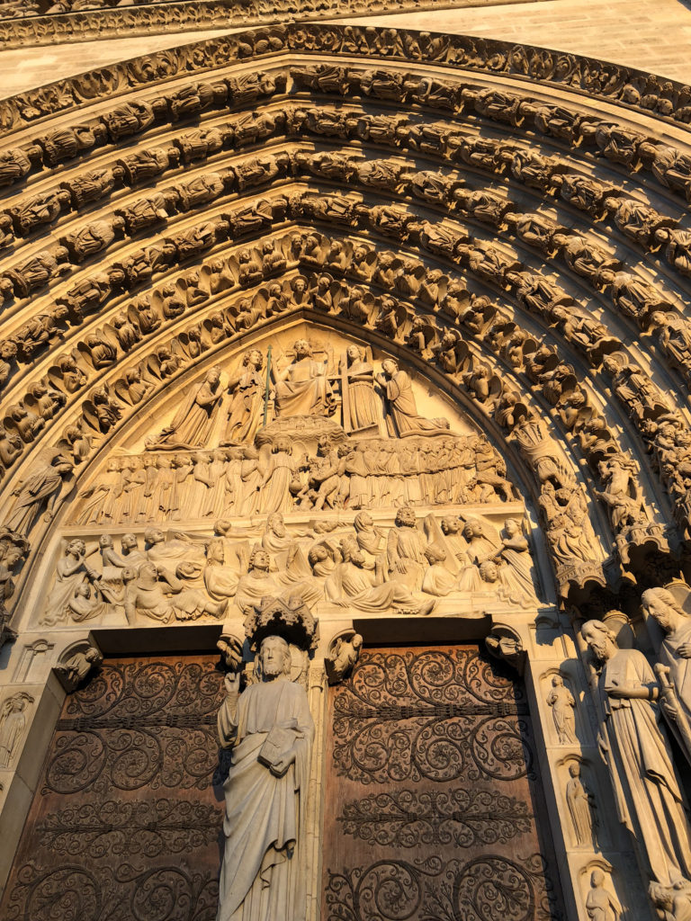 Upclose look at Notre Dame door detail! Make sure to visit the Notre Dame with our 5 Day Paris Guide!