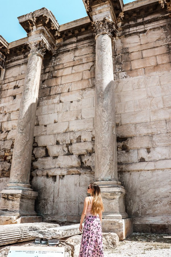 Library of Hadrian is one of the best places to see in Athens