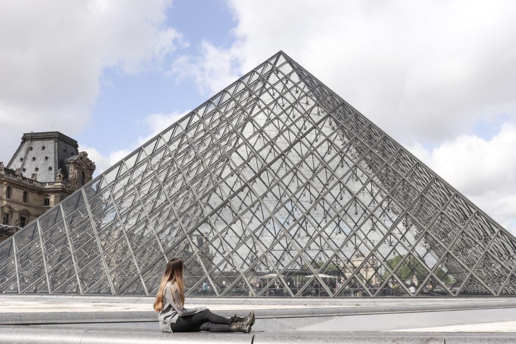 A view of the famous Louvre in Paris. A must visit!
