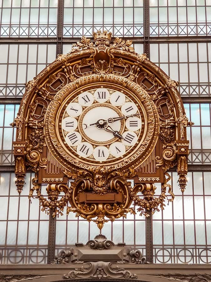 Musee dOrsay famous Clock. Visit this museum with 5 days in Paris.
