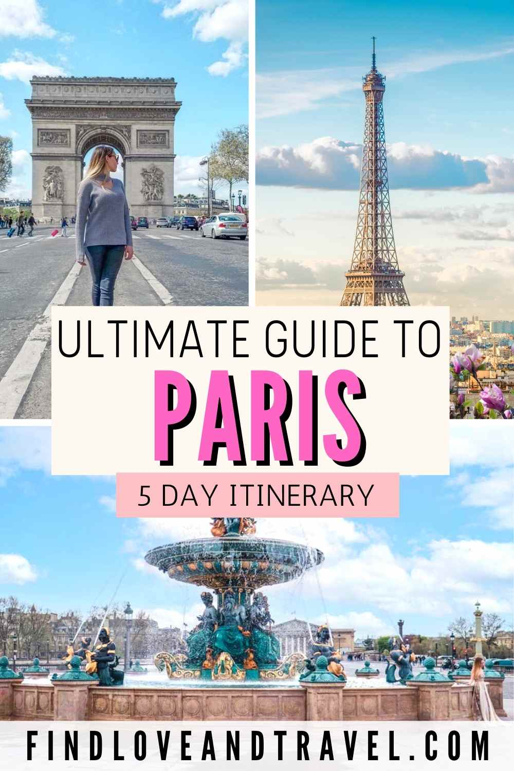 5 Days in Paris Travel Itinerary Vacation travel guide.