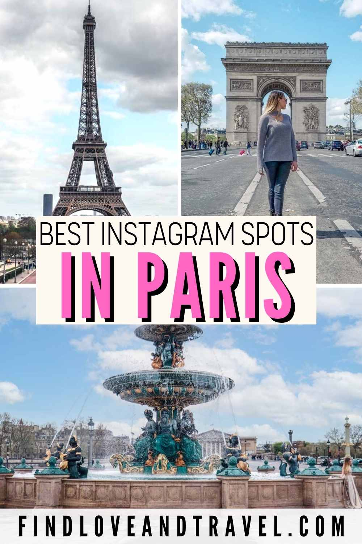 photo worthy spots in Paris France