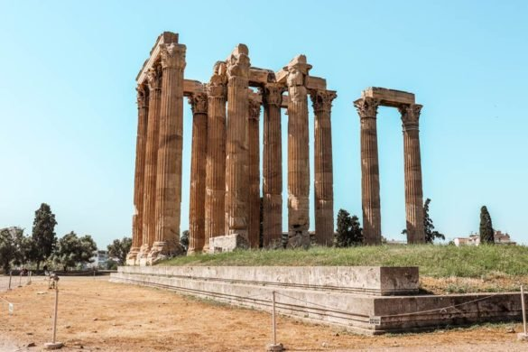 Temple of Zeus in Athens Greece