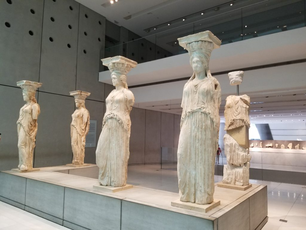 Caryatids at the Acropolis Museum one of the best places to visit in Athens