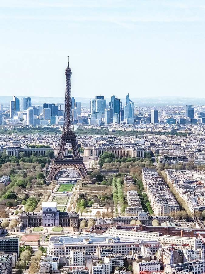 Views from Tour Montparnasse in Paris is perfect for any itinerary with views of the Eiffel tower
