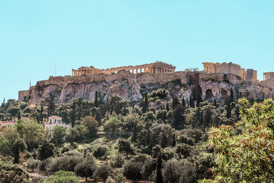 View of Acropolis in Athens Greece 4 Day Itinerary