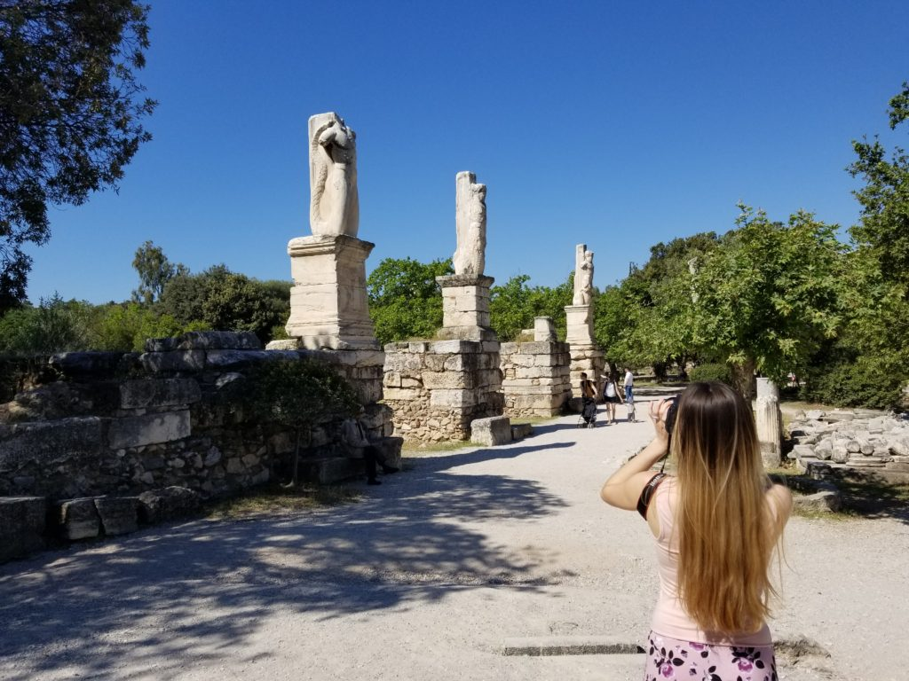 Views of the Athenian Agora. For more Athens inspiration, check out my detailed guide for 4 days in Athens, Greece!