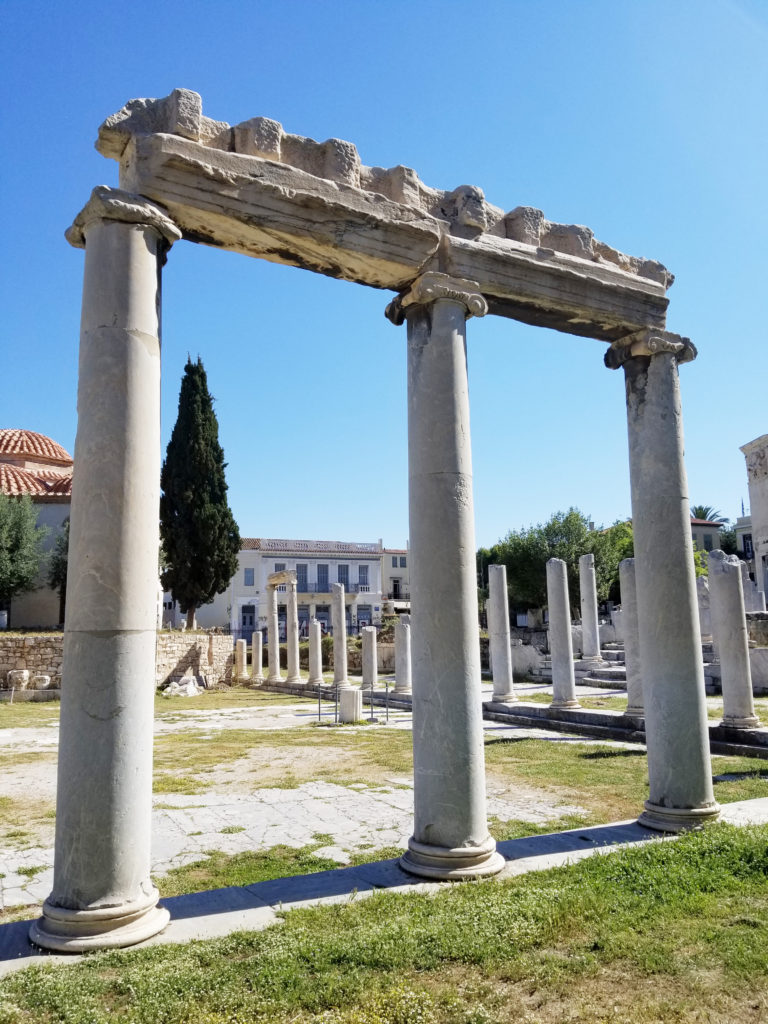 View of the Roman Agora. For more Athens inspiration, click here to see my detailed guide for your trip to Athens, Greece!
