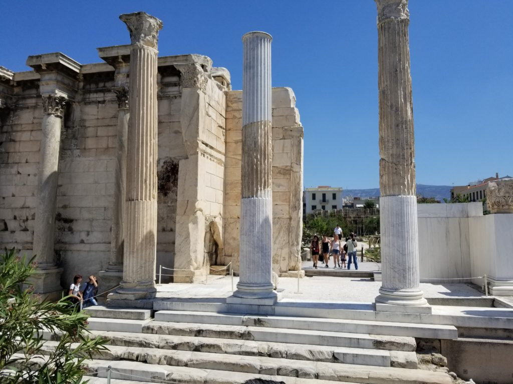Restoration of Hadrian's Library in Athens Greece