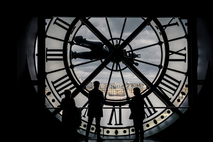 Muse d'Orsay in Paris behind the clock in Paris is very Instagrammable