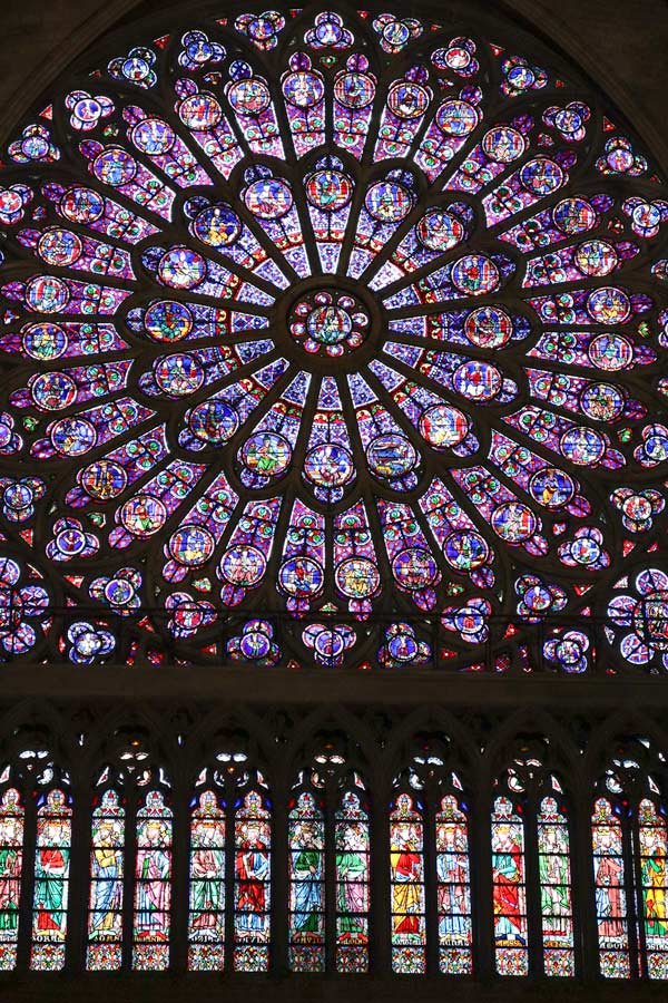 Stained Glass at Notre Dame Cathedral in Paris