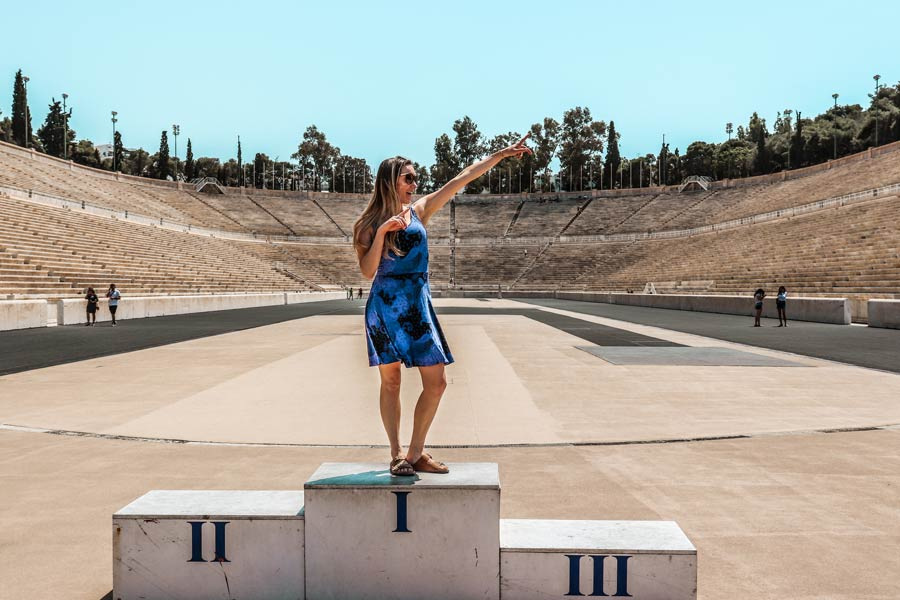 Panathenaic Stadium in Athens Greece