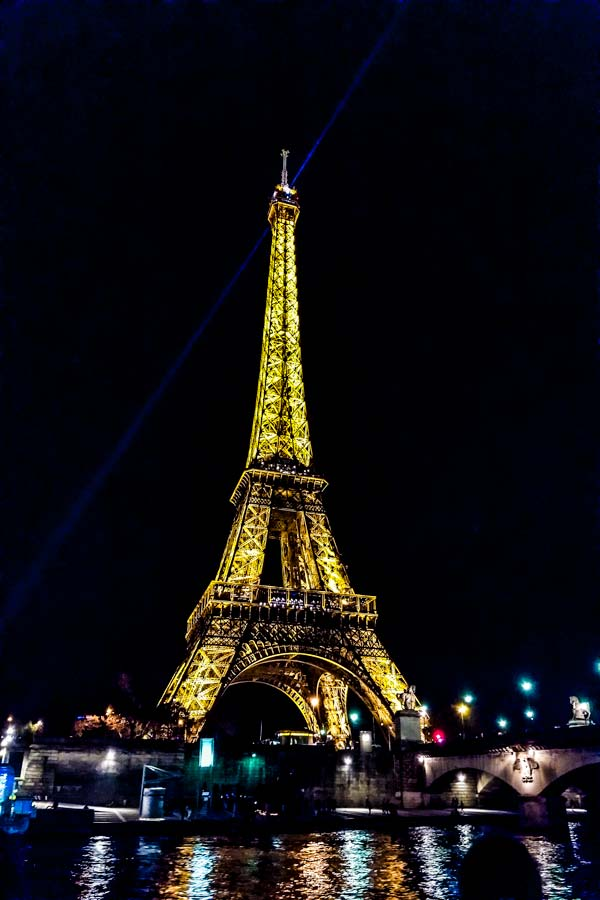 Eiffel tower lit up at night is a must see with 5 days in Paris