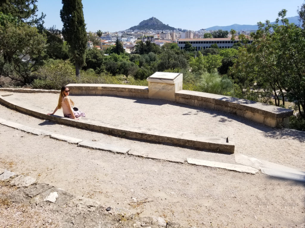 One of the best views in Athens is at the top of the Athenian Agora
