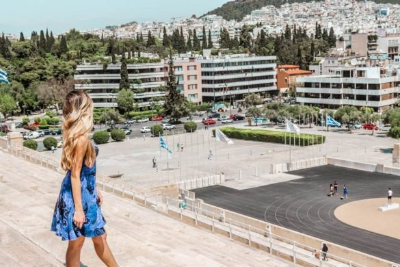 The Panathenaic Stadium is a must see with 4 days in Athens Greece
