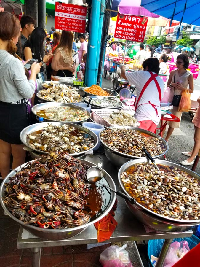something to know before visiting Thailand is to make sure people are at the food stalls in Thailand