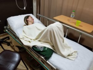 Trip to hospital while traveling abroad