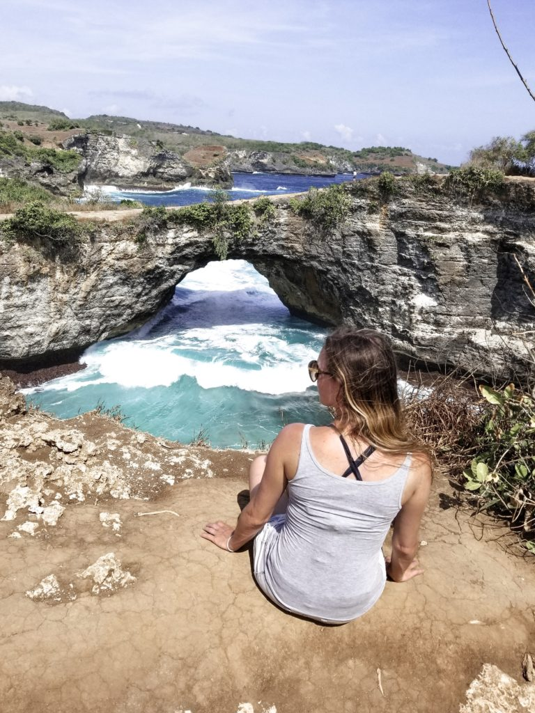 Sam at Broken Sound Beach Nusa Penida