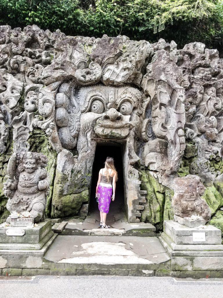 Goa Gajah temple cave entrance