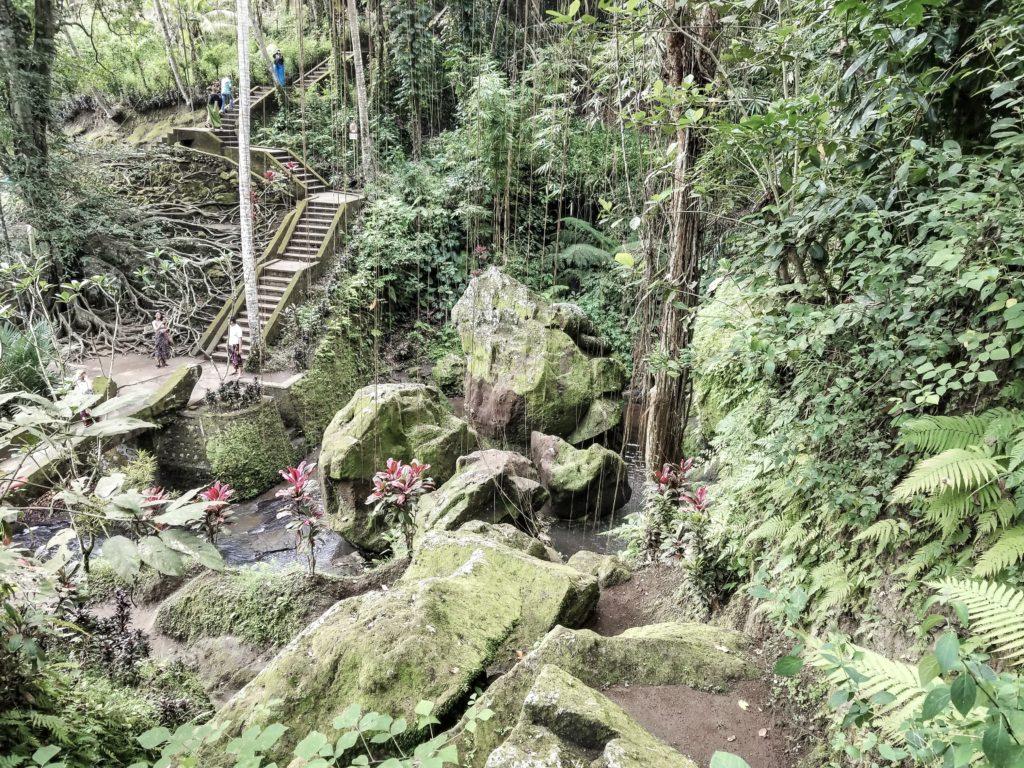 Goa Gajah garden overview