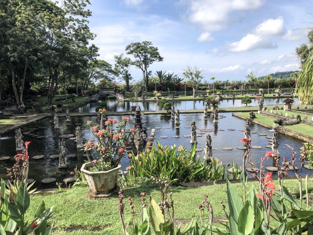 Tirta Gangga Temple Garden View