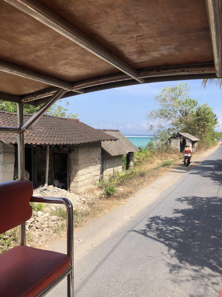 Taxi pickup truck in Nusa Islands Bali Guide