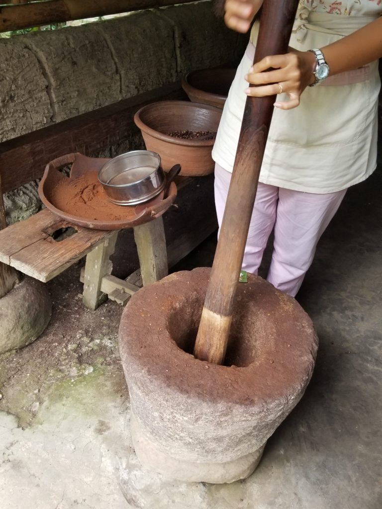Bali Pulina Coffee Plantation Grinding Beans