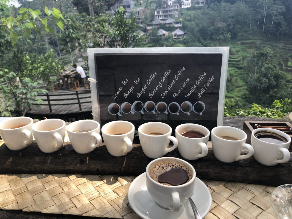 Bali Pulina Coffee Plantation coffee and tea samples