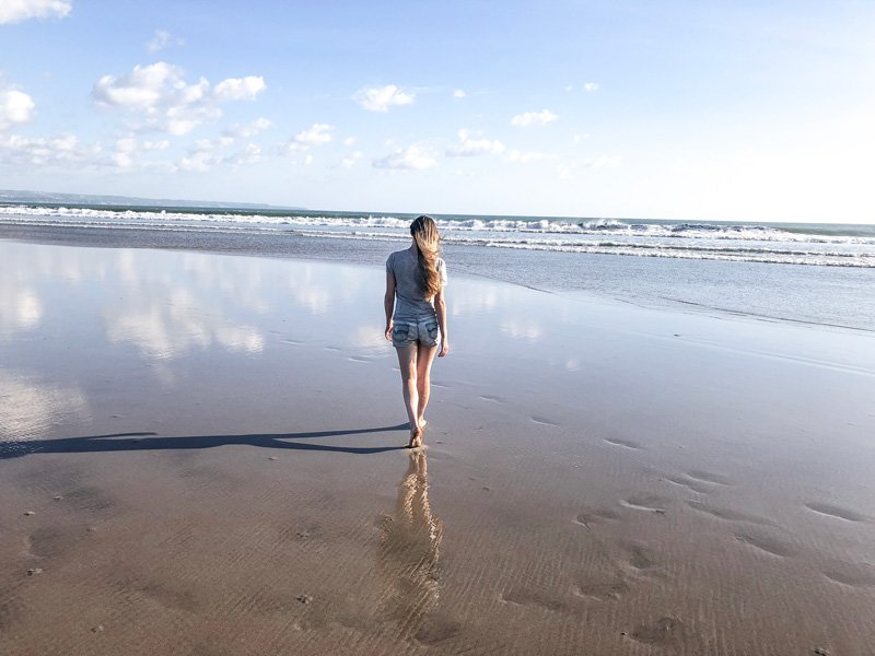 One of the best things to do in Seminyak is taking a walk down double six beach