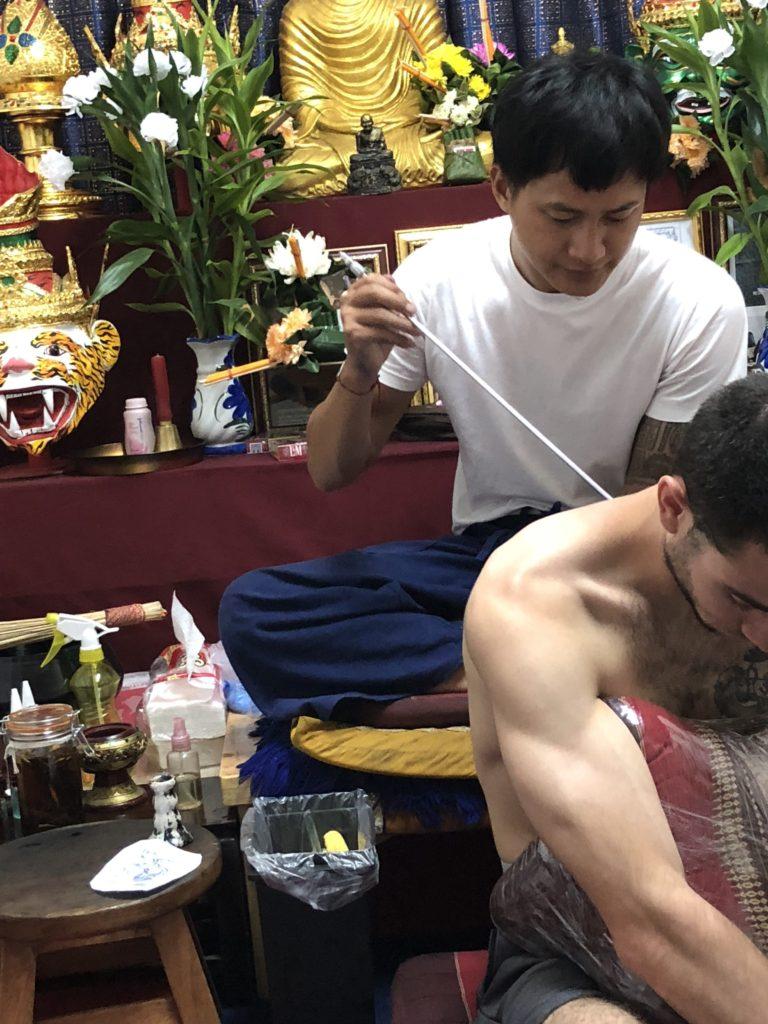 Getting Sak Yant in Chiang Mai Thailand