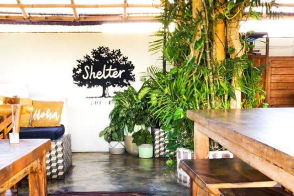 Inside of Shelter Cafe in Seminyak Bali