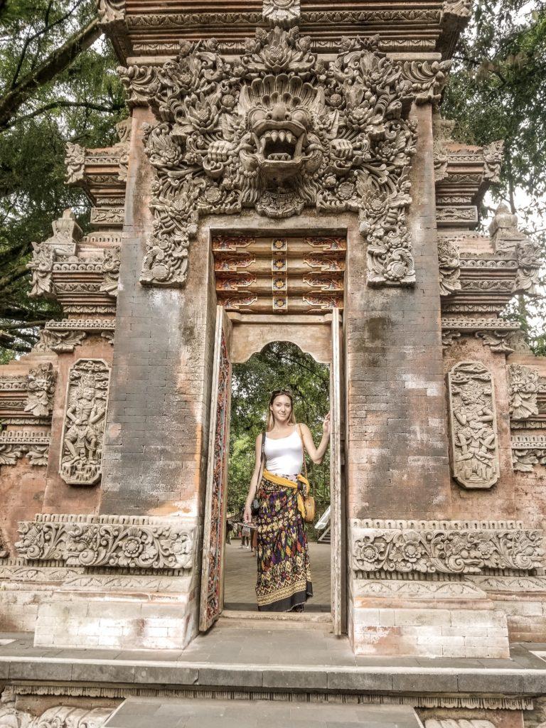 Sam at Tirta Empul Gate Ubud,Bali