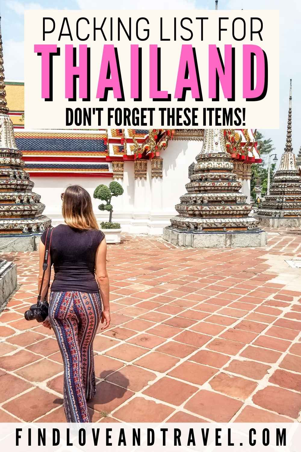 Thailand Packing list guide