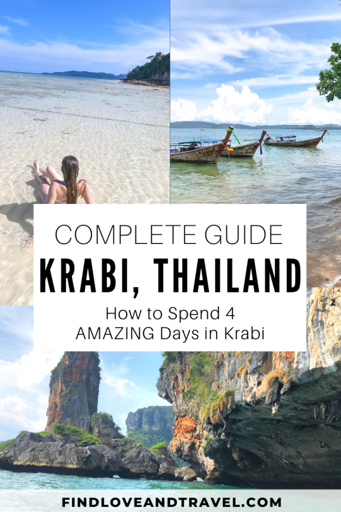 Ultimate Krabi 4 Day Itinerary to see the best that Krabi, Thailand has to offer!