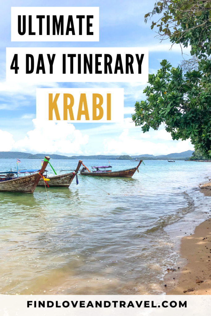 Perfect Krabi 4 Day Itinerary to see the best that Krabi, Thailand has to offer!